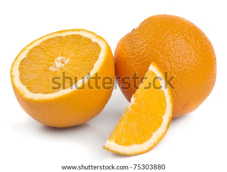slice orange - stock photo