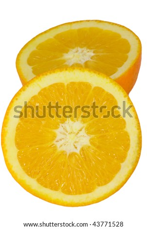 slice orange isolated - stock photo