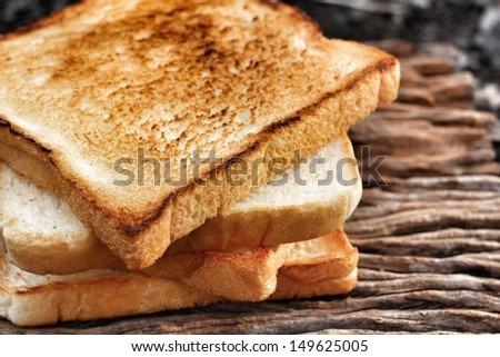Slice toast bread background texture - stock photo