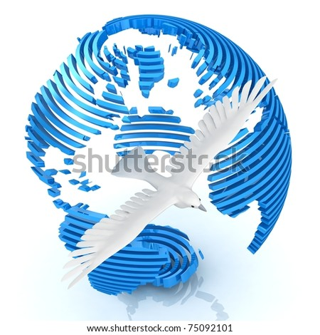 Sliced abstract globe with
