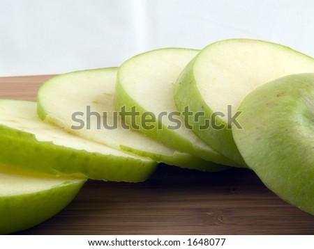 Sliced apples - stock photo