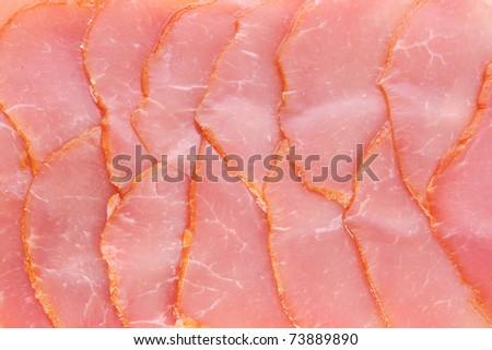 Sliced  bacon - stock photo