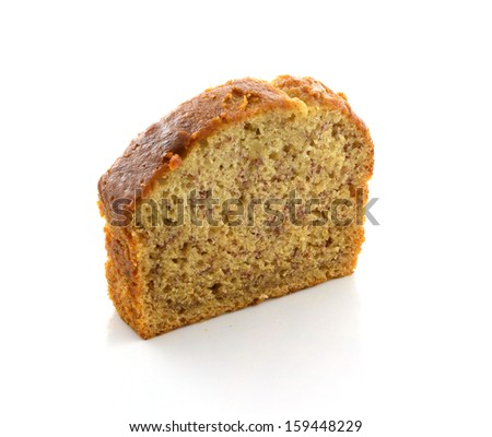 Sliced banana bread - stock photo