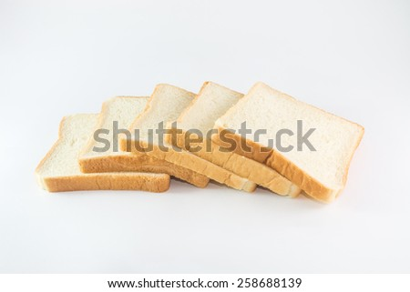 sliced bread isolate on white background