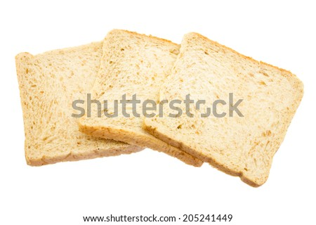 Sliced bread isolated isolated on a white background