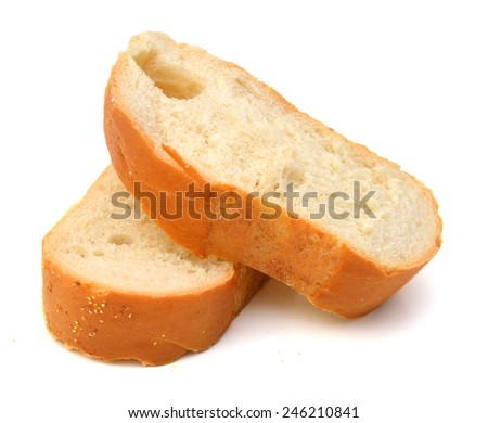Sliced bread. Isolated on a white background  - stock photo