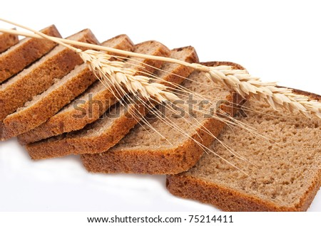Sliced bread with ears - stock photo