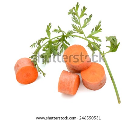 Sliced carrot isolated on white - stock photo