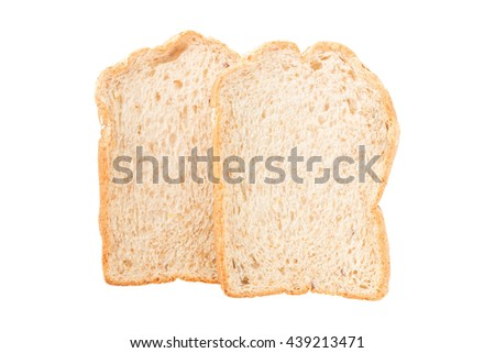 sliced cereal bread isolated on white background. Has clipping path.