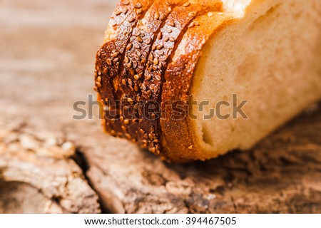 Sliced  fresh bread