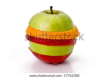 Sliced fruit ing the shape of an apple