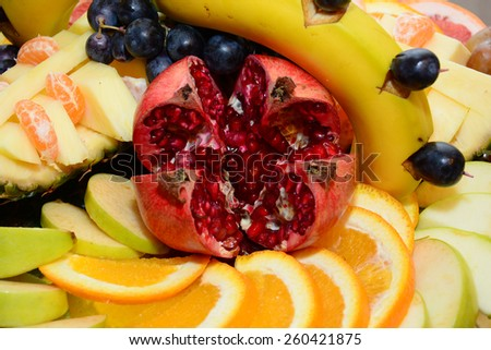 Sliced fruits - stock photo