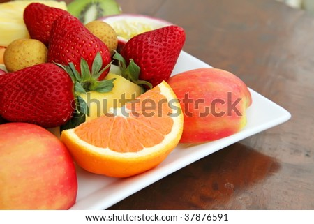 Sliced Fruits Selection For Healthy Food Life
