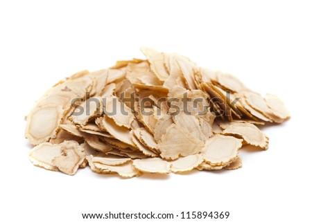 sliced ginseng - stock photo