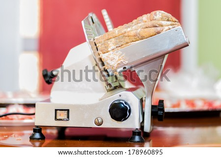 sliced Italian - stock photo
