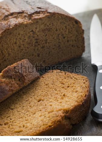 Sliced Loaf of Parkin - stock photo