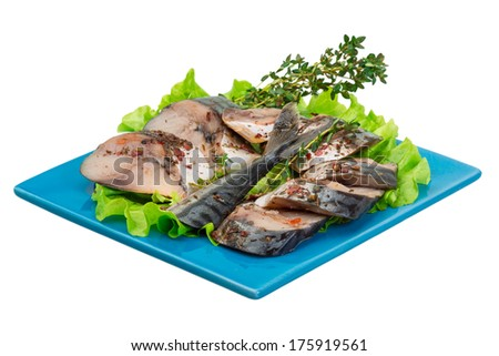 Sliced Mackerels - stock photo