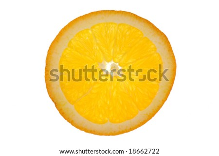 Sliced Orange - stock photo