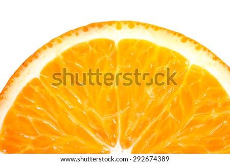 Sliced orange  on a white background - stock photo