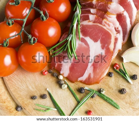 Sliced Smoked Ham - stock photo
