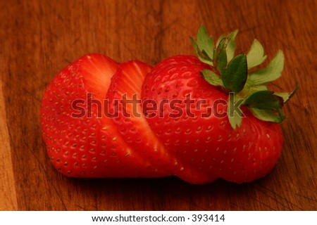 Sliced Strawberry - stock photo