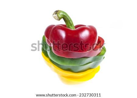 Sliced sweet pepper - stock photo