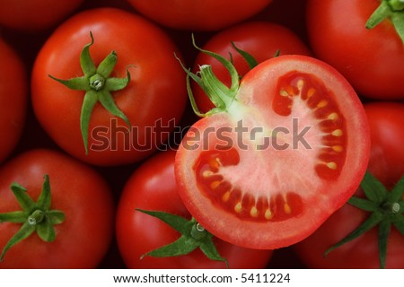 Sliced tomato - stock photo