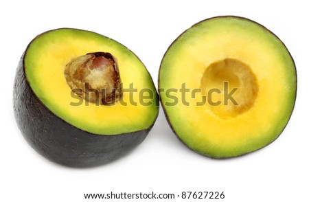Sliced, tropical avacado fruit