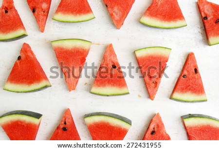 Sliced watermelon.  - stock photo