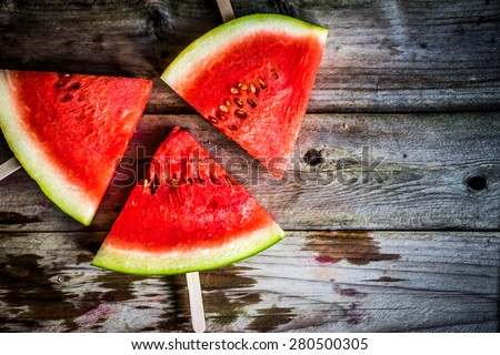 Sliced watermelon - stock photo