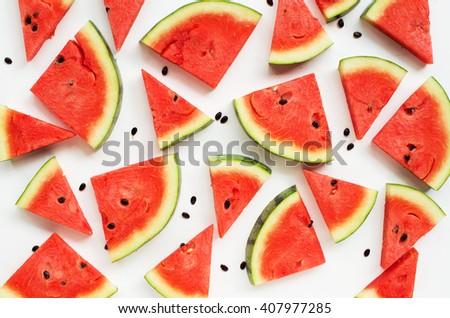 Sliced watermelon.  - stock photo