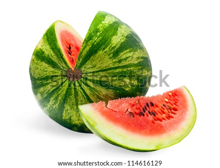 sliced �¢??�¢??watermelon on a white background - stock photo