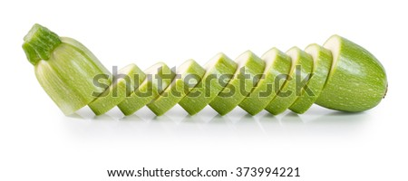 Sliced zucchini isolated on a white background - stock photo