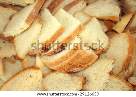 slices bread as background
