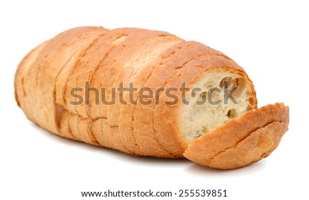 slices of bread roll up isolated on white