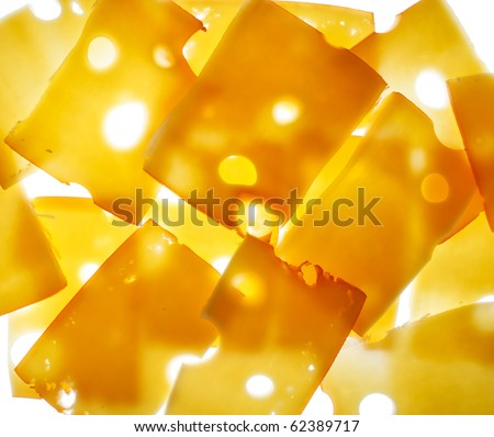 slices of cheese - stock photo