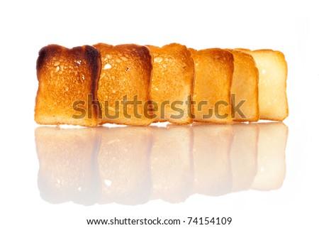 Slices of crusty bread - stock photo