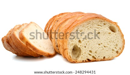 slices of fresh baked bread - stock photo