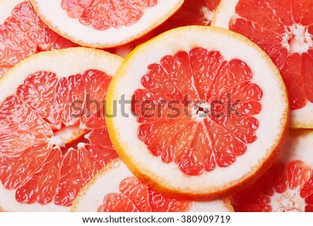 Slices of grapefruit - stock photo