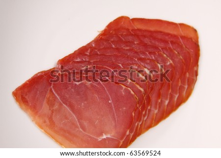slices of ham.