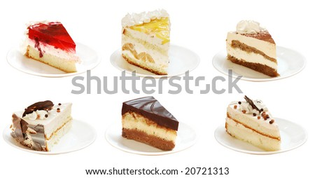 slices of pies with cream. Look for more in MY PORTFOLIO - stock photo