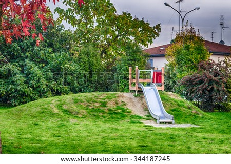 slide for children in the public gardens