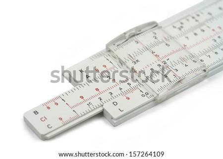 Slide rule - stock photo