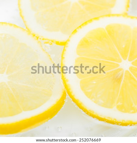 slieces of lemon - stock photo
