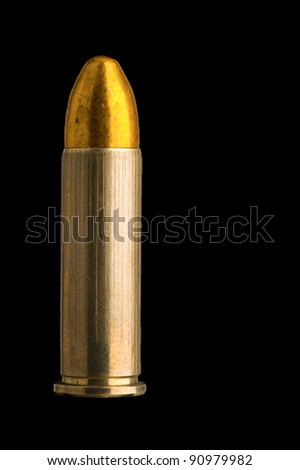 Slightly corroded .38 Special round nose FMJ round - stock photo