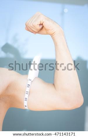 male measuring biceps stock images royalty free images vectors shutterstock. Black Bedroom Furniture Sets. Home Design Ideas