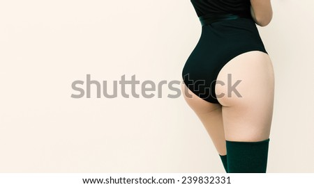 Slim body and buttocks. Women's fashion beauty - stock photo