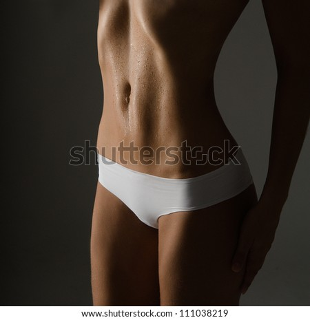 slim body woman - stock photo