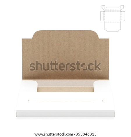 Slim Business Card Folder Box with Die Cut Template