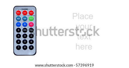 slim line remote control - stock photo